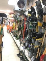 shovels, rakes, hoes...